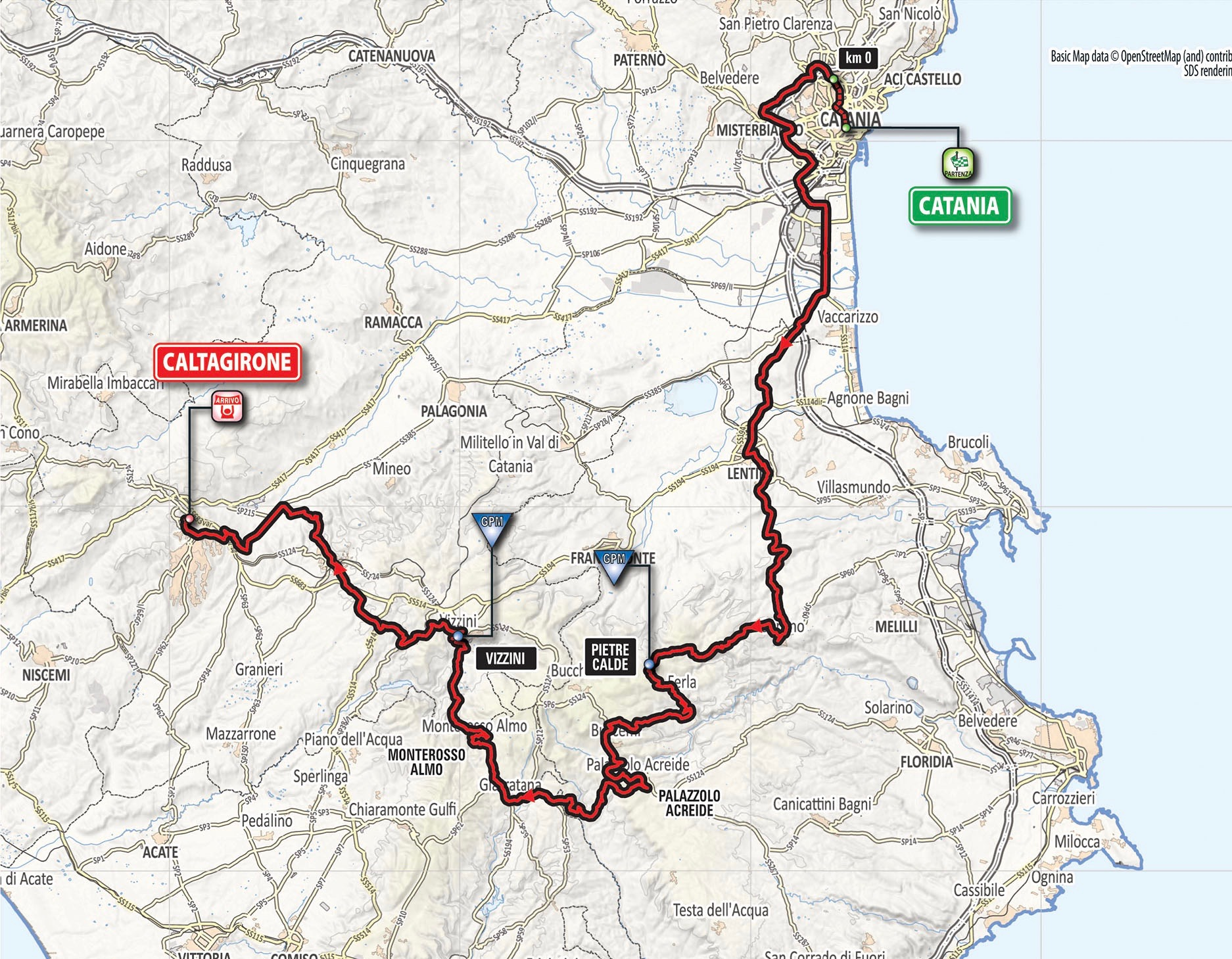 2018 giro d italia week 1 sicily to apennines stage routes